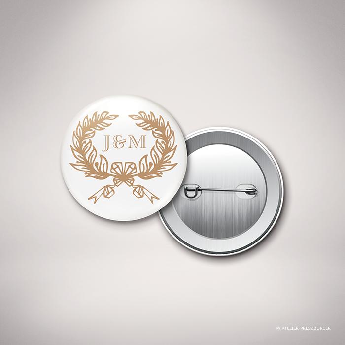 Kerimel – Badge de mariage classique par Julien Preszburger – Photo non contractuelle