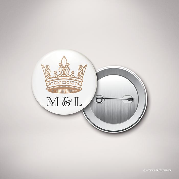 Miollis – Badge de mariage classique royal par Julien Preszburger – Photo non contractuelle