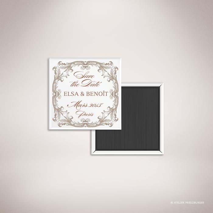 Mansart – Magnet de mariage classique baroque par Julien Preszburger – Photo non contractuelle