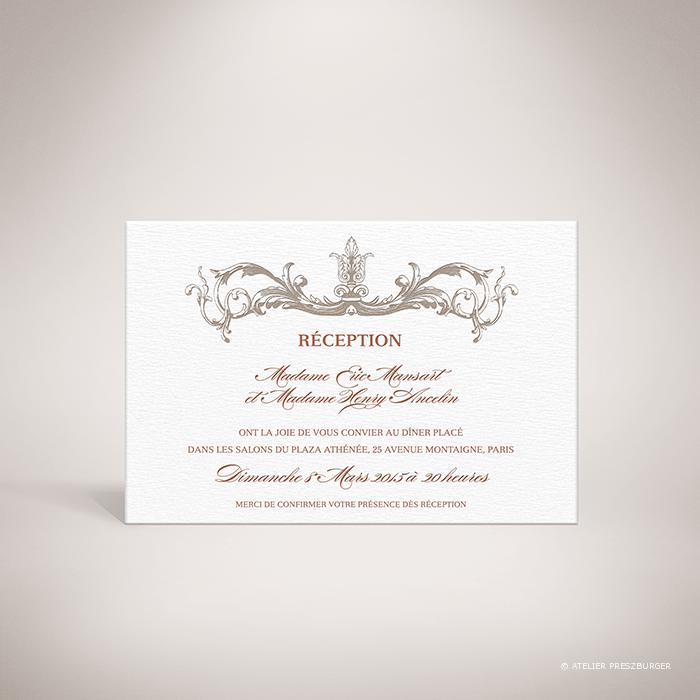 Mansart – Carton invitation classique baroque par Julien Preszburger – Photo non contractuelle