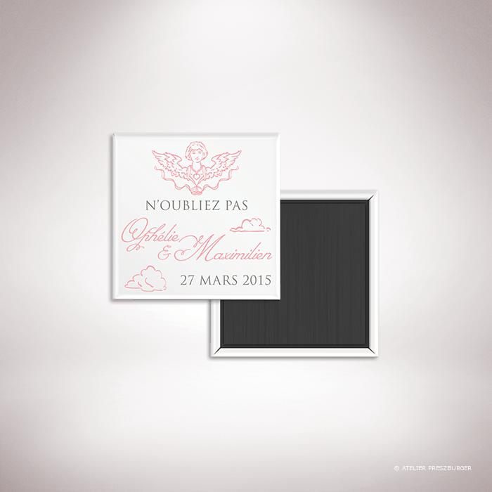 Ivoley – Magnet mariage sur le thème de Cupidon, ange de l'amour par Julien Preszburger – Photo non contractuelle