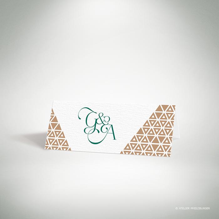 Bucy – Marque place de mariage contemporain de style graphique et géométrique par Julien Preszburger – Photo non contractuelle