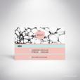 Carrare – Carton réponse de mariage contemporain de style abstrait par Julien Preszburger – Photo non contractuelle