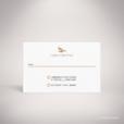 Arcy – Carton réponse de mariage dans un style contemporain, illustré d'un oiseau postal par Julien Preszburger – Photo non contractuelle