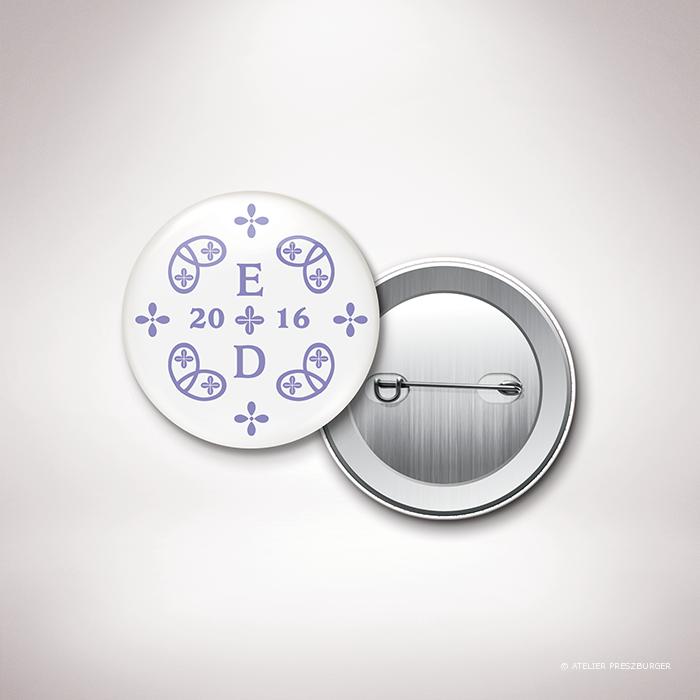 Chabot – Badge de mariage de mariage classique, illustré d'un motif sacré par Julien Preszburger – Photo non contractuelle