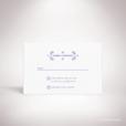 Chabot – Carton réponse de mariage classique, illustré d'un motif sacré par Julien Preszburger – Photo non contractuelle