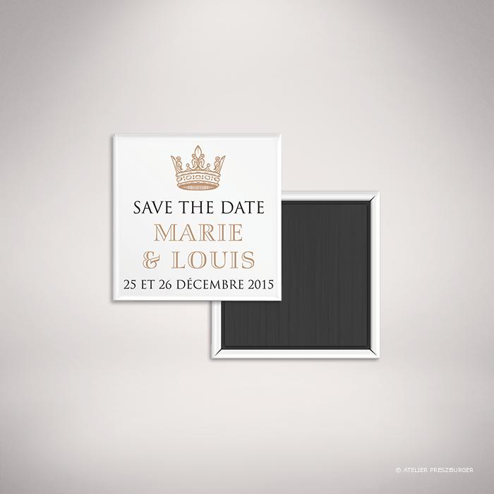 Miollis – Magnet «save the date» de mariage classique royal par Julien Preszburger – Photo non contractuelle