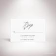 Galand – Carton réponse de mariage contemporain de style typographique par Julien Preszburger – Photo non contractuelle