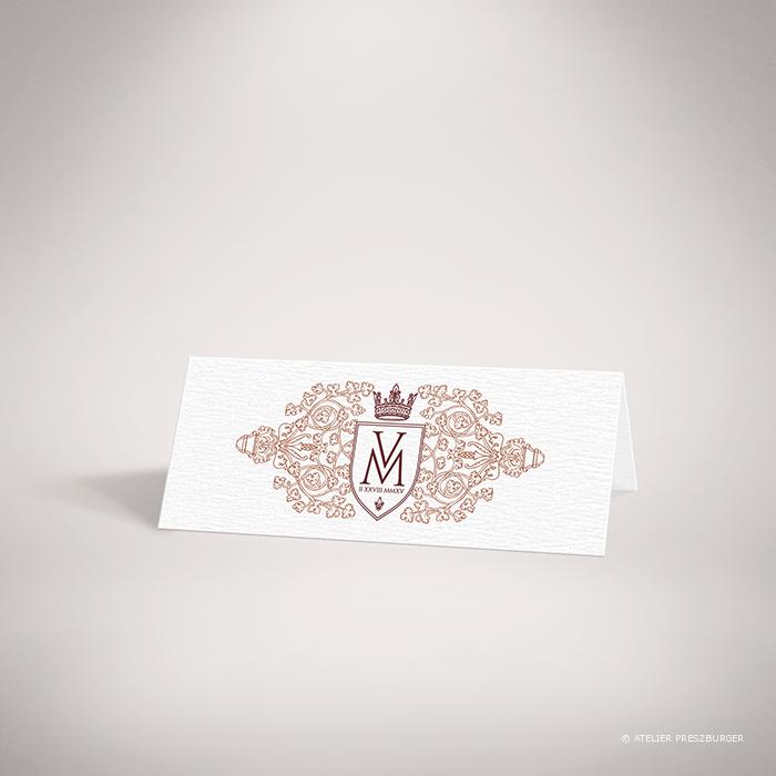 Lagaye – Marque place recto de mariage classique royal par Julien Preszburger – Photo non contractuelle