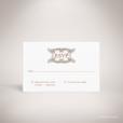 Mansart – Carton réponse verso de mariage classique par Julien Preszburger – Photo non contractuelle
