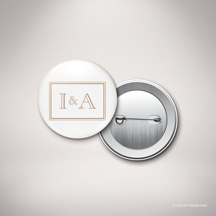 Labroise – Badge de mariage classique typographique par Julien Preszburger – Photo non contractuelle