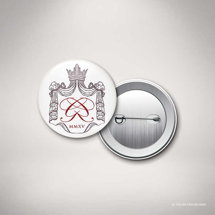 Lestorey – Badge de mariage classique royal par Julien Preszburger – Photo non contractuelle