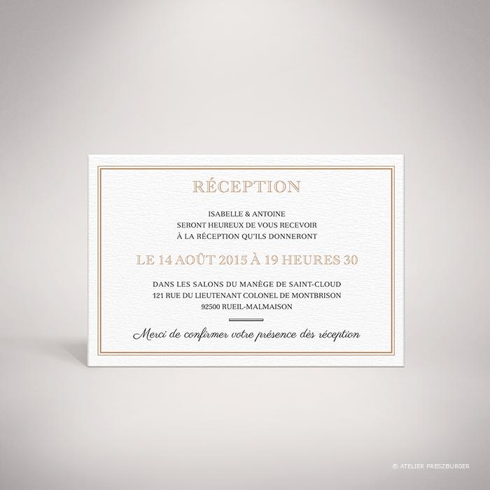 Labroise – Carton invitation de mariage classique typographique par Julien Preszburger – Photo non contractuelle