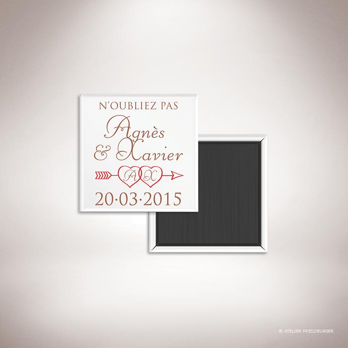 Césac – Magnet mariage sur le thème de Cupidon, ange de l'amour par Julien Preszburger – Photo non contractuelle