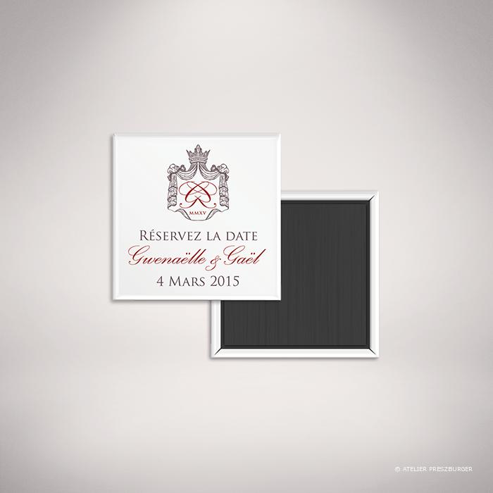 """Lestorey – Magnet """"save the date"""" de mariage classique royal par Julien Preszburger – Photo non contractuelle"""