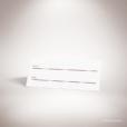Pérignon – Marque place de mariage dans un style contemporain sur le thème de l'amour, illustré d'un cœur unique par Julien Preszburger – Photo non contractuelle