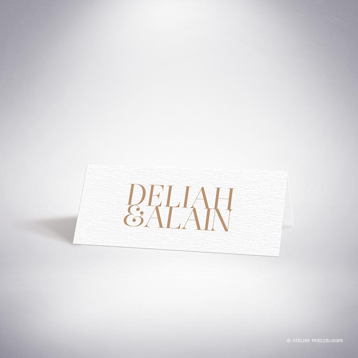 Launay – Marque place verso de mariage classique typographique par Julien Preszburger – Photo non contractuelle