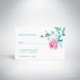 Méiland – Carton réponse de mariage de style romantique, sur le thème des roses, illustré à l'aquarelle par Julien Preszburger – Photo non contractuelle