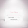 Laroque – Carton réponse de mariage de style floral, sur le thème du printemps, illustré de pivoines par Julien Preszburger – Photo non contractuelle