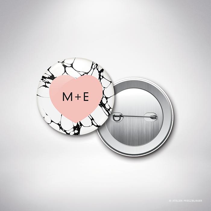 Carrare – Badge de mariage contemporain de style abstrait par Julien Preszburger – Photo non contractuelle