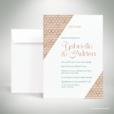 Bucy – Faire-part de mariage contemporain de style graphique et géométrique par Julien Preszburger – Photo non contractuelle