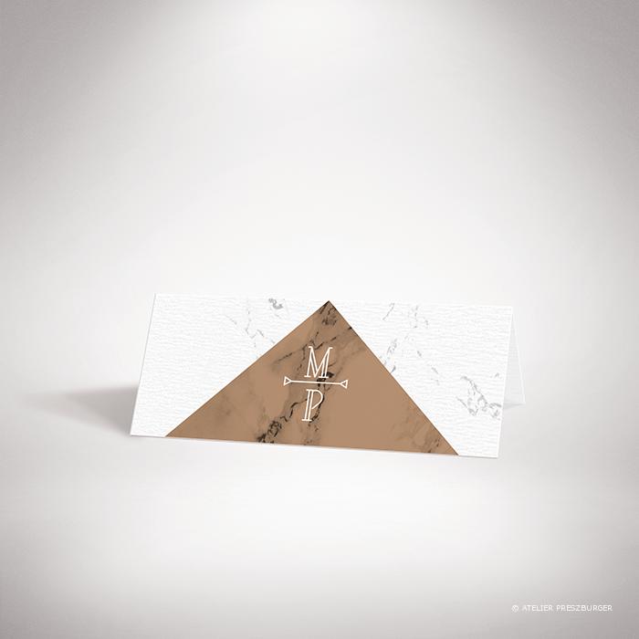 Lebrun – Lebrun – Marque place de mariage contemporain de style de style géométrique sur le thème du marbre par Julien Preszburger – Photo non contractuelle – Photo non contractuelle