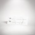 Lebrun – Marque place de mariage contemporain de style de style géométrique sur le thème du marbre par Julien Preszburger – Photo non contractuelle
