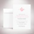 Dionis – Faire-part de mariage sur le thème des pierres précieuses, illustré d'un diamant rose par Julien Preszburger – Photo non contractuelle