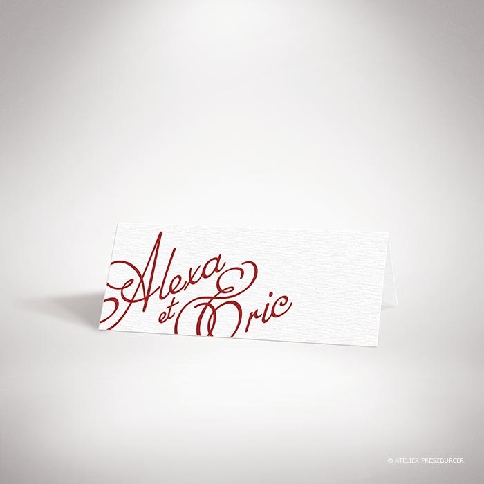 Ortolli – Marque place de mariage classique de style calligraphique par Julien Preszburger – Photo non contractuelle