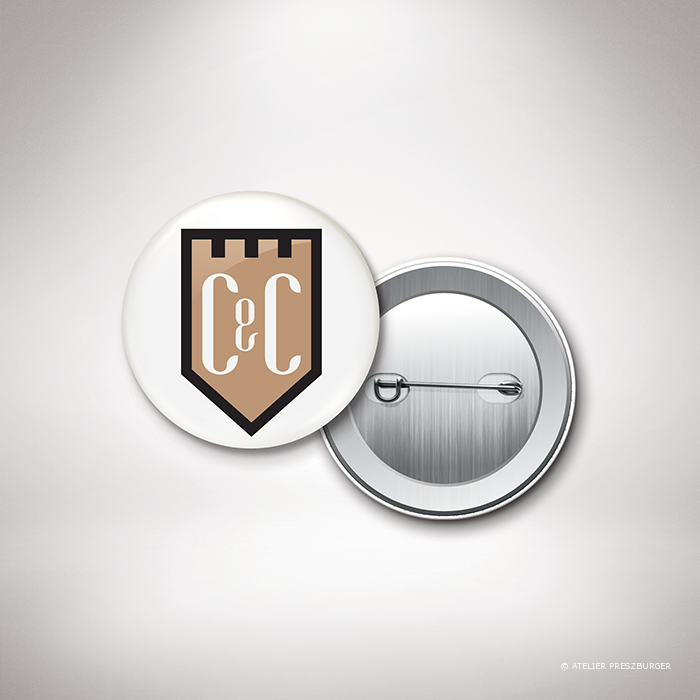 Gondy – Badge de mariage contemporain de style royal par Julien Preszburger – Photo non contractuelle