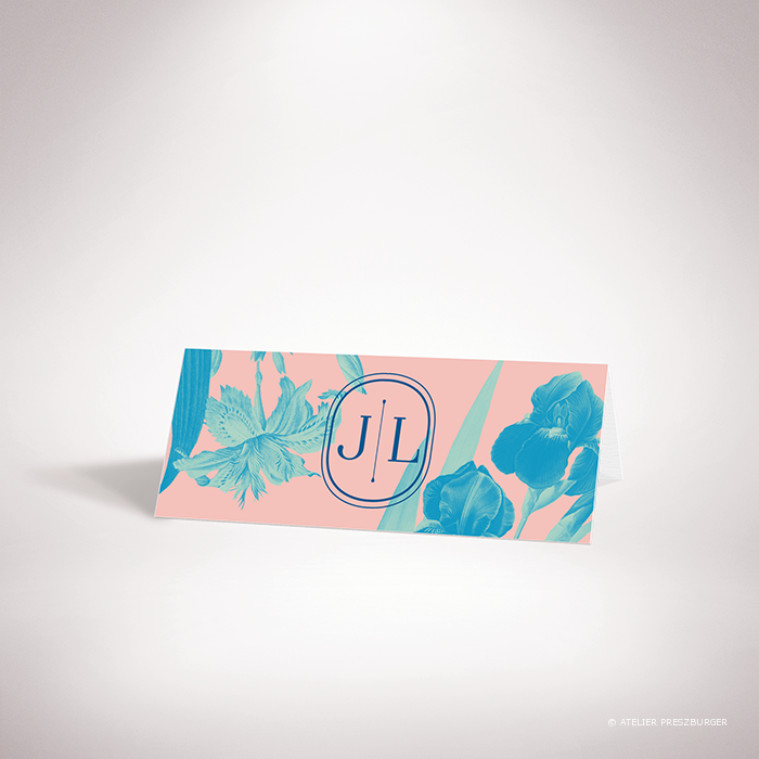 Feray – Marque place Feray de la collection mariage sur le thème des fleurs, illustré d'Iris par Julien Preszburger – Photo non contractuelle