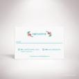 Develly – Carton réponse de mariage sur le thème des fleurs, inspiré de la porcelaine française et illustré à l'aquarelle par Julien Preszburger – Photo non contractuelle