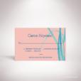Feray – Carton réponse Feray de la collection mariage sur le thème des fleurs, illustré d'Iris par Julien Preszburger – Photo non contractuelle