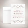 Mansart – Faire-part de mariage classique baroque par Julien Preszburger – Photo non contractuelle