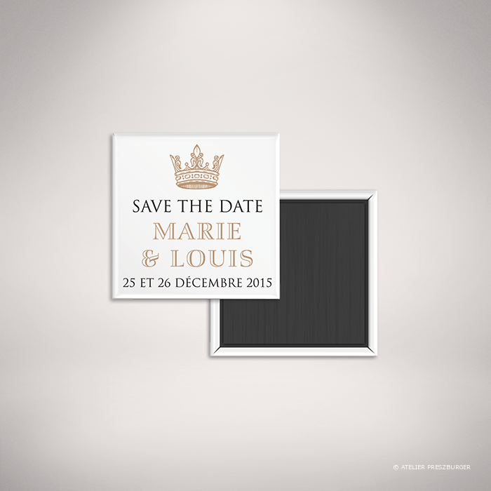 "Miollis – Magnet ""save the date"" de mariage classique royal par Julien Preszburger – Photo non contractuelle"