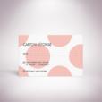 Suller-Carton réponse de mariage contemporain de style rétro, décoré d'un motif à pois par Julien Preszburger-Photo non contractuelle
